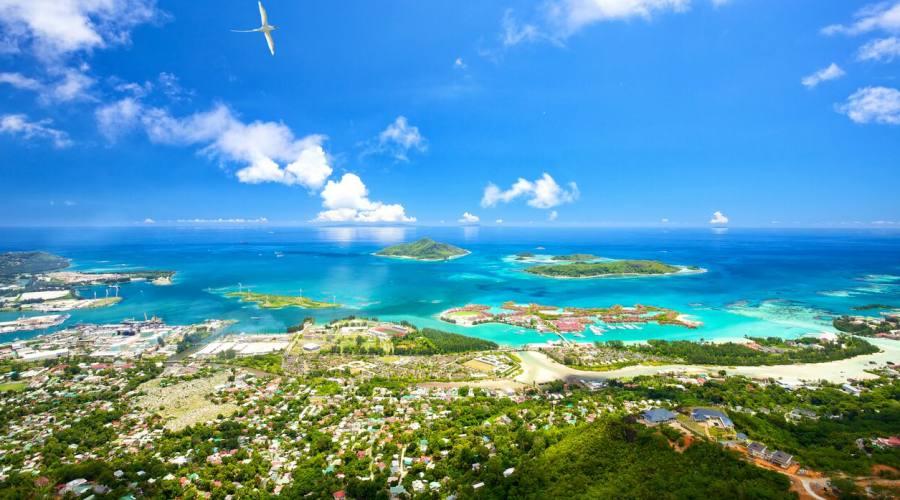 Seychelles vista aerea Eden Island