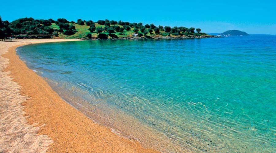 La spiaggia dorata...