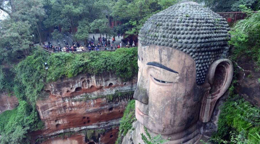 Cina Grande Buddha a Leshan