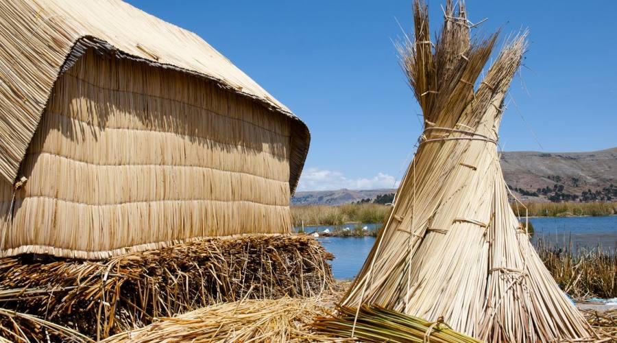 Abitazione sul lago Titicaca