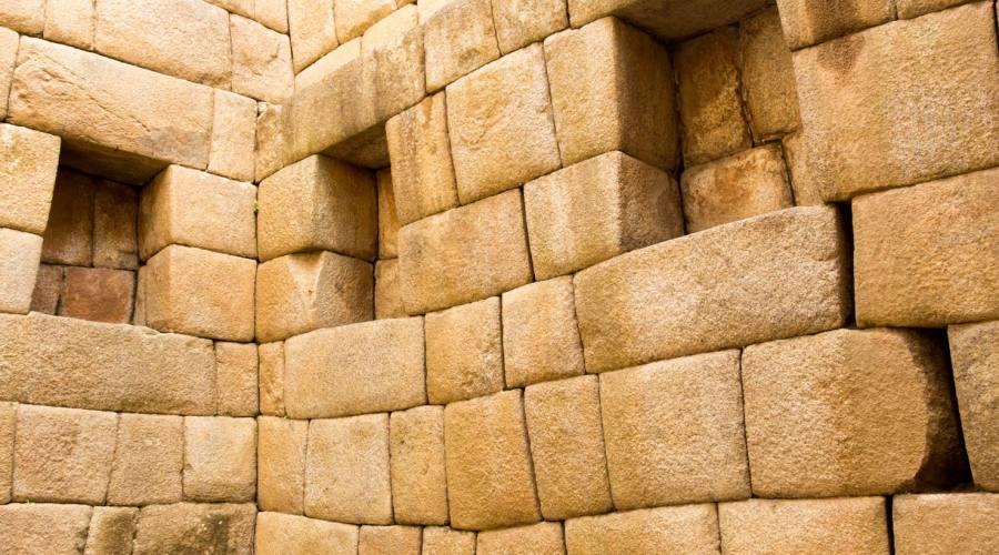 Uno spesso muro a Machu Picchu