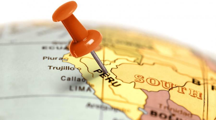 Mappa del Perù