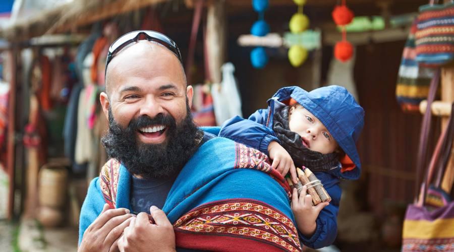 Al mercato con figlio al seguito!