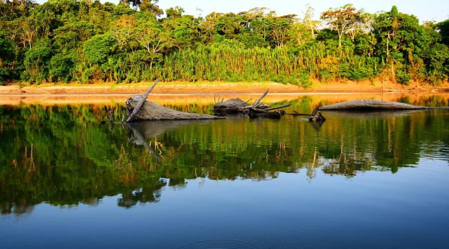 La riva del fiume Manu