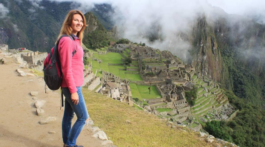 L'arrivo a Machu Picchu