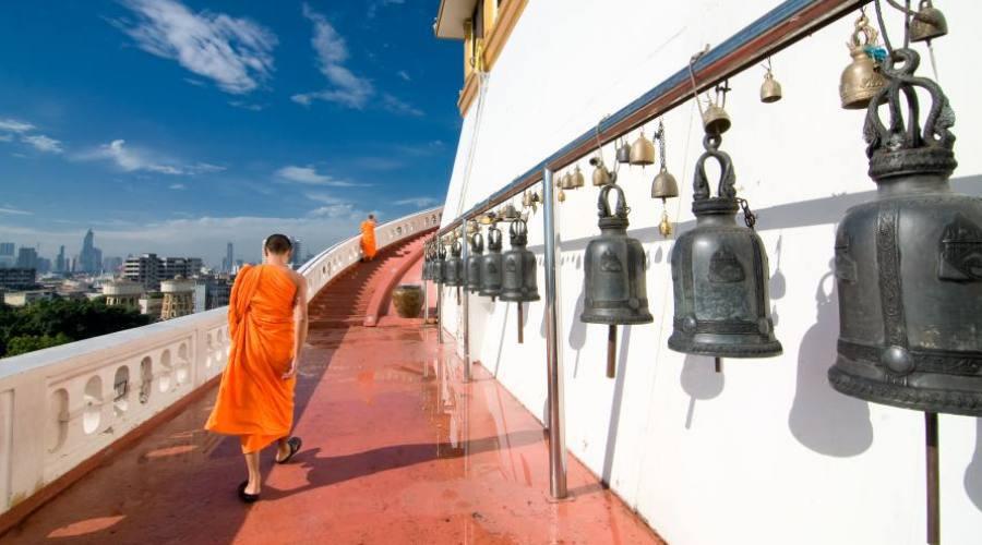 Moines bouddhistes à Bangkok