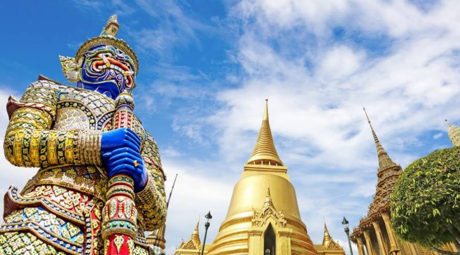 Le temple Wat Phra Kaeo de Bangkok