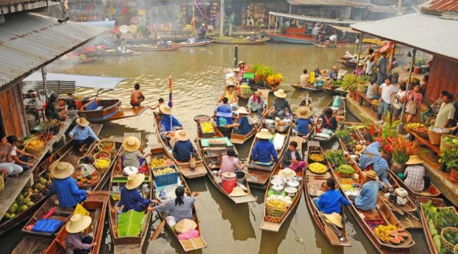 Le marché flottant de Damnersaduak