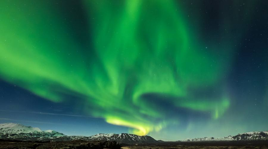 Aurora Boreale sul parco nazionale Thingvellir