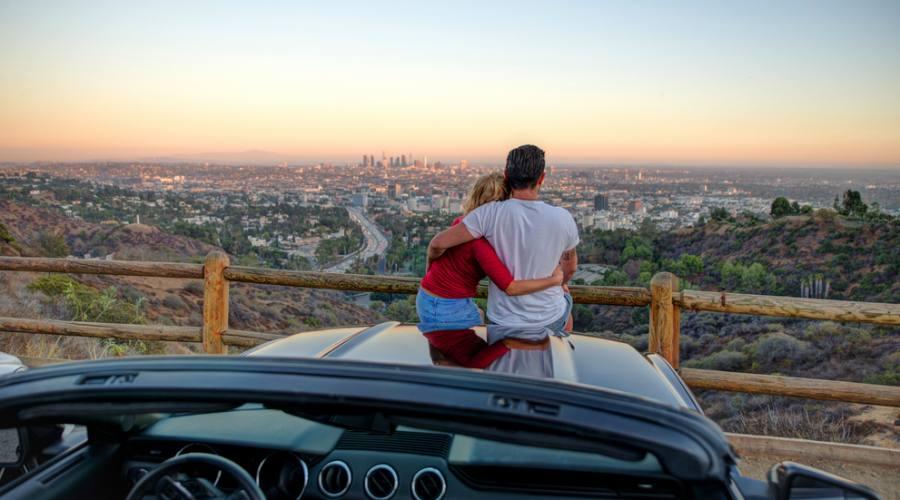 Un punto romantico per osservare Los Angeles