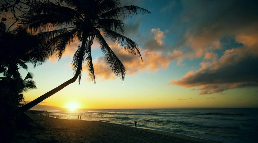 Oahu - tramonto sulla North Shore