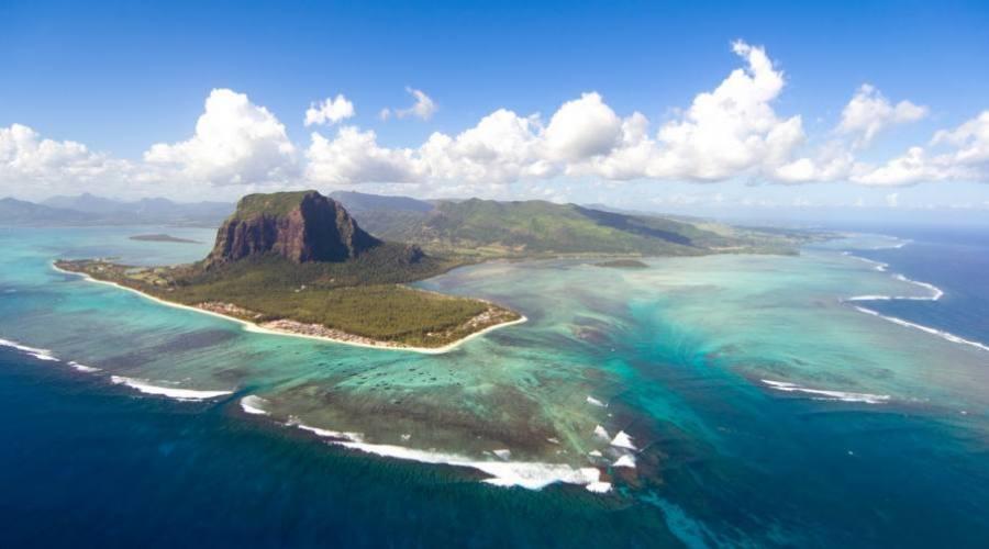 Vue aérienne de l'île Maurice