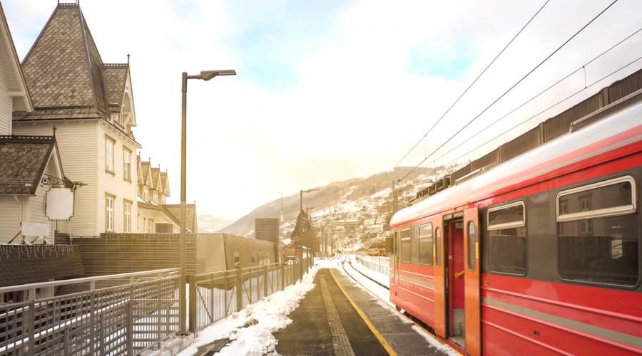 Treno da Bergen a Voss