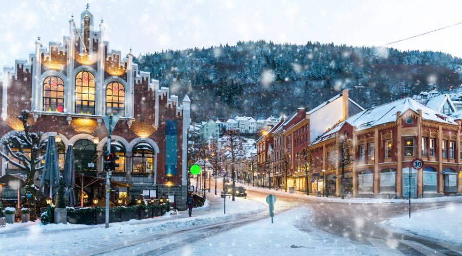 Bergen centro città, Norvegia