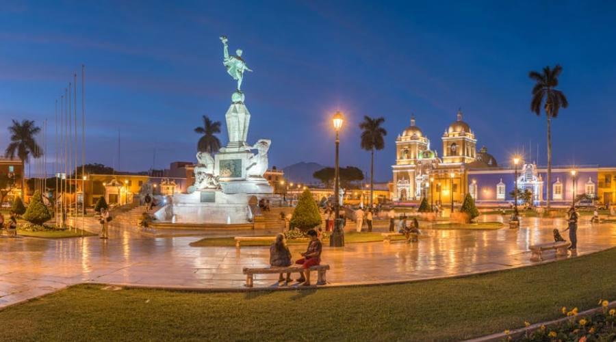 La piazza principale di Trujillo