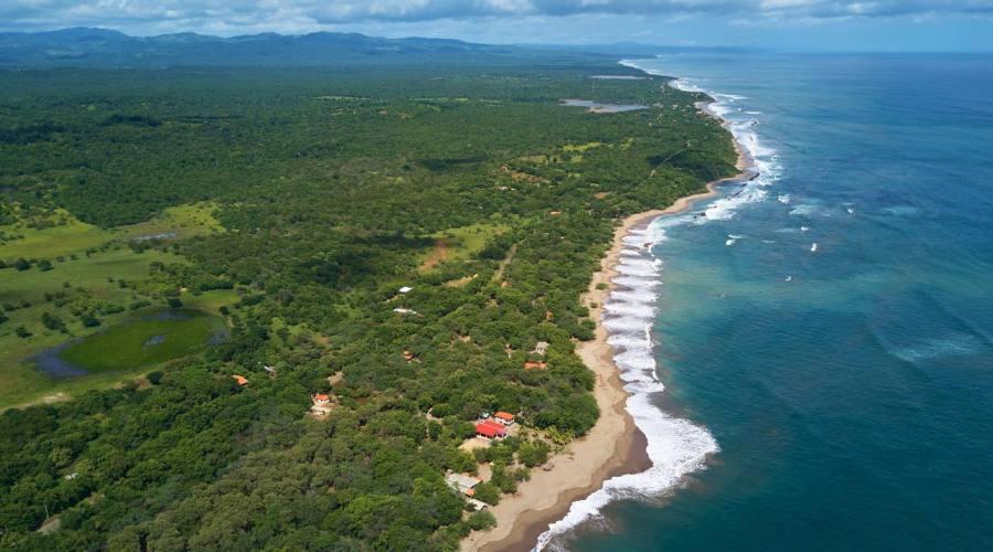Un tratto di costa lungo il Pacifico