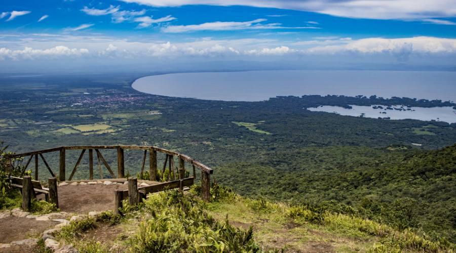 Vista dal vulcano Mombacho del lago Nicaragua