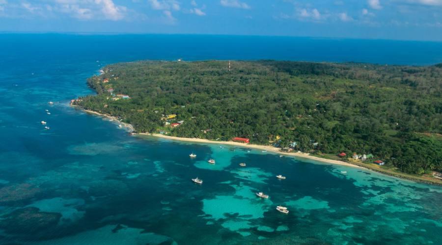 Vista aerea di Corns Island