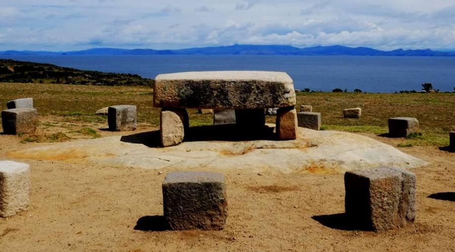 Un altare Inca sull'isla del Sol