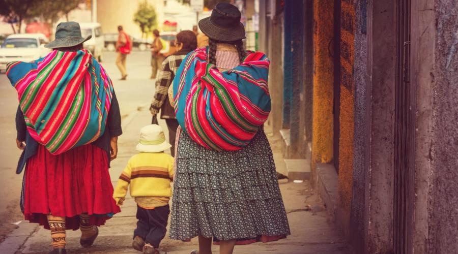 Per strada a La Paz