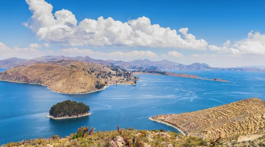 il lago Titicaca dalll'isla del Sol