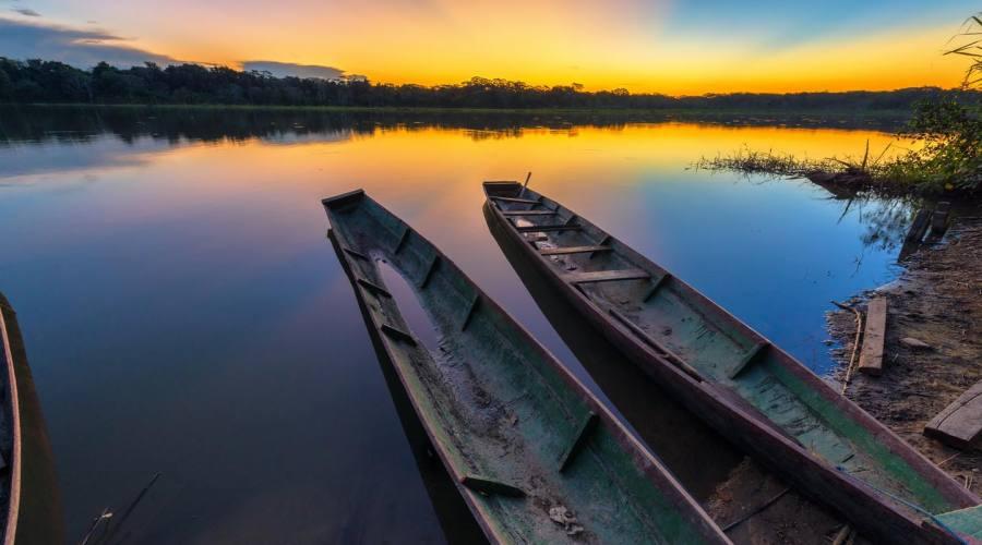Un magnifico tramonto sul Yacuma