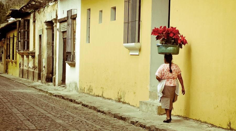 Strada acciotolata a Antigua