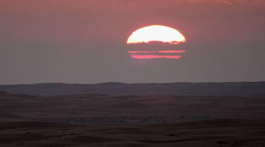 Tramonto a Wahiba Sands