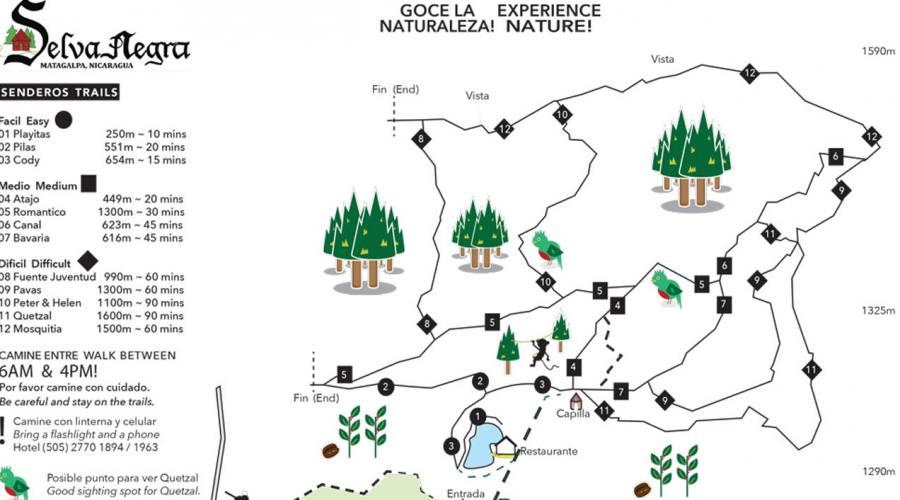 Mappa delle escursioni a Selva Negra