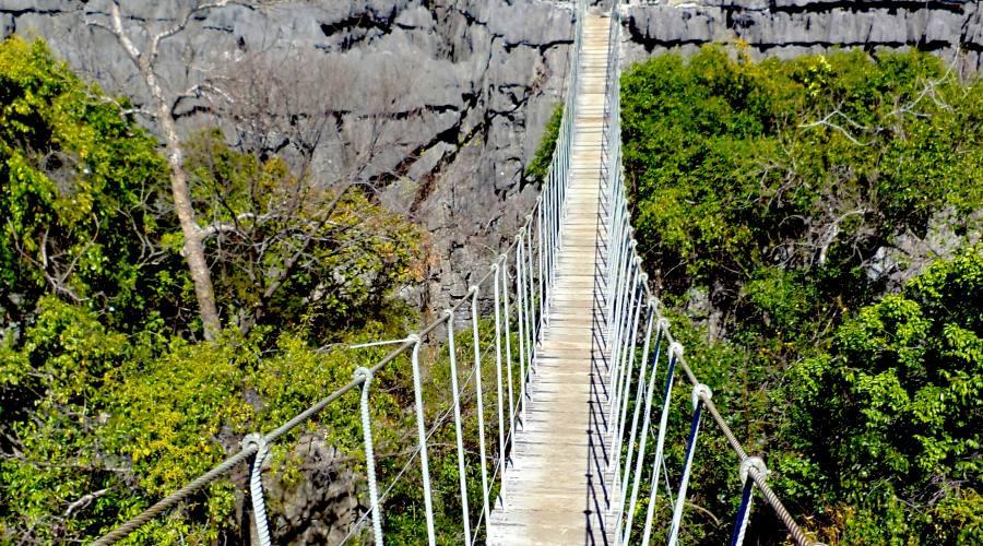 ponte sospeso sugli Tsingy