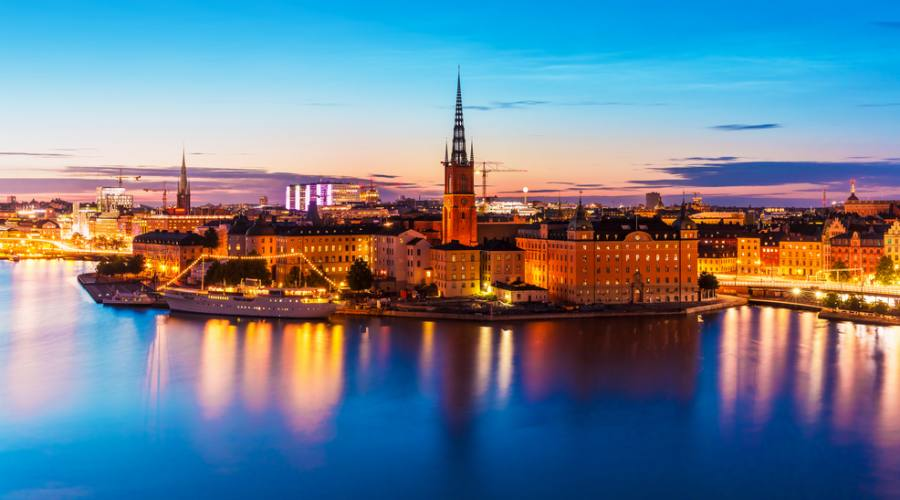 "Stoccolma vista panoramica su ""Gamla Stan"""