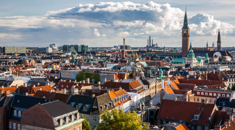 Copenhagen vista panoramica dalla torre