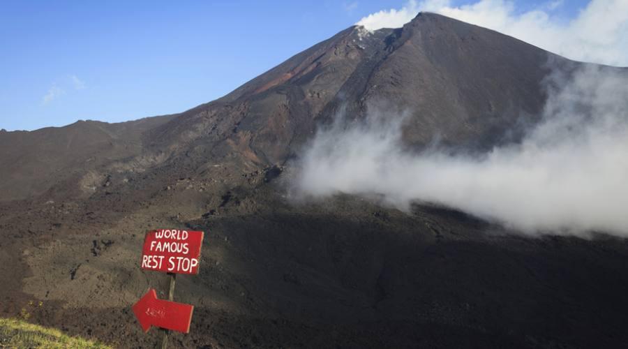 Il vulcano Pacaya, vicino Antigua