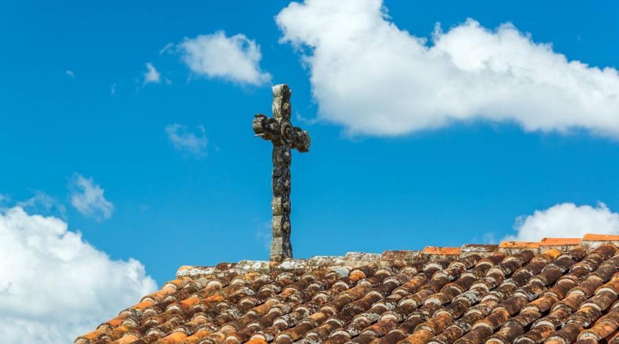 San Javier, particolare della croce