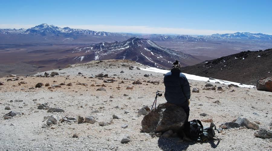 In cima al vulcano Uturunco