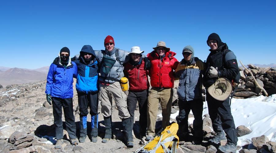 Foto di gruppo sull'Uturunco
