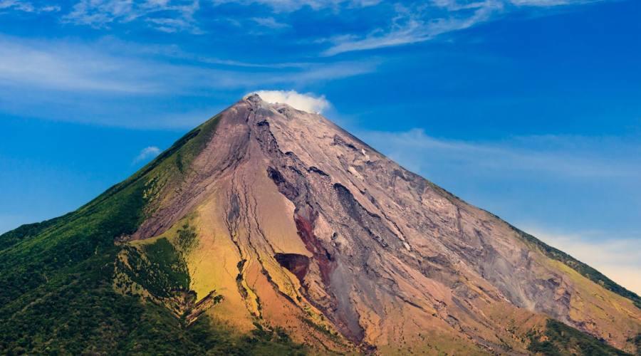 La cima del vulcano Concepción