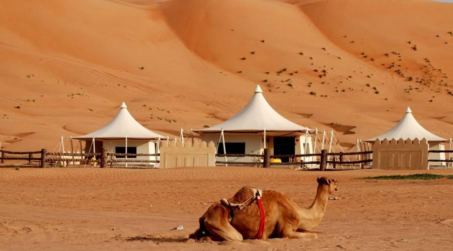 Campo tendato a Wahiba