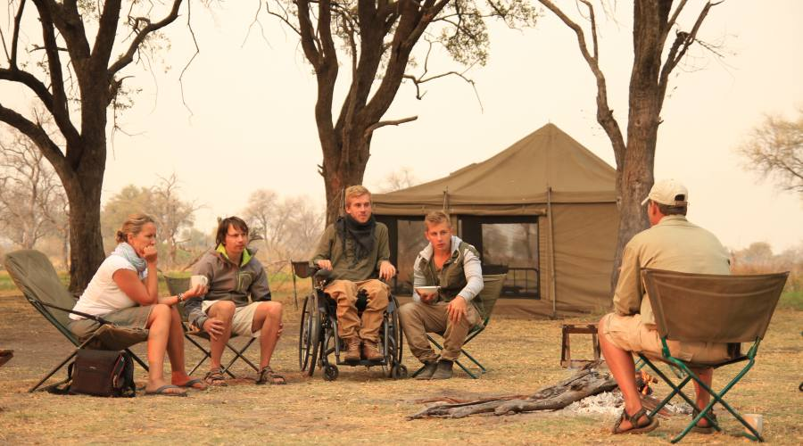 Campo tendato mobile privato accessibile