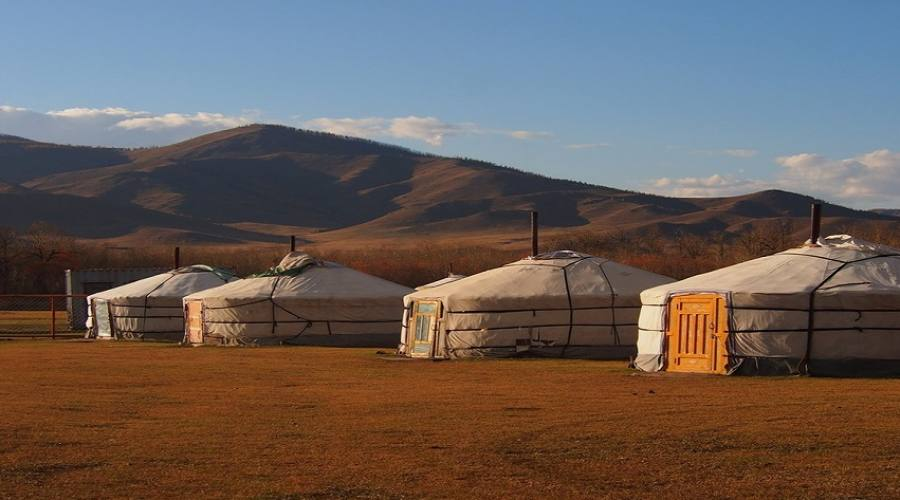 accampamento di yurte