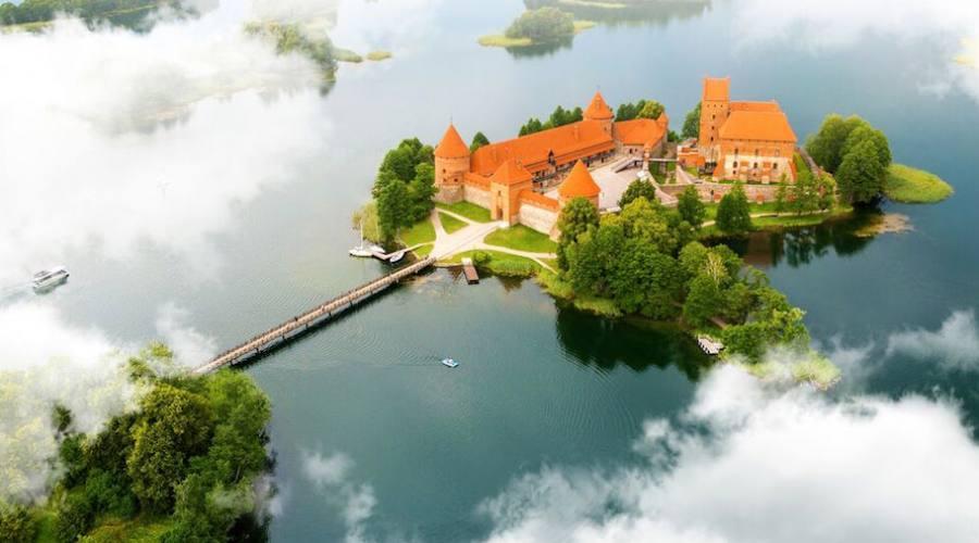 Trakai aerial view
