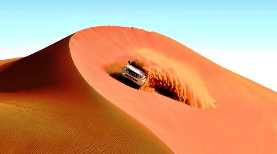 Dune bushing nel Wahiba Sands