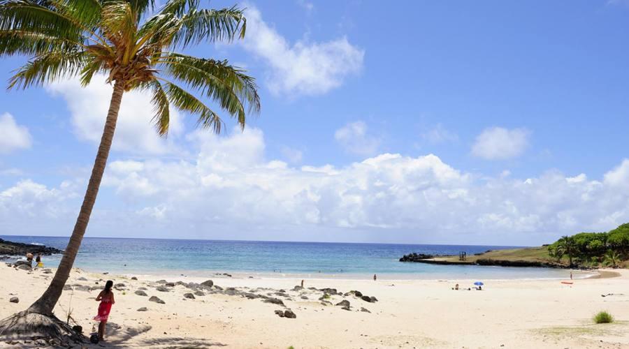 Spiaggia sull'isola di Pasqua