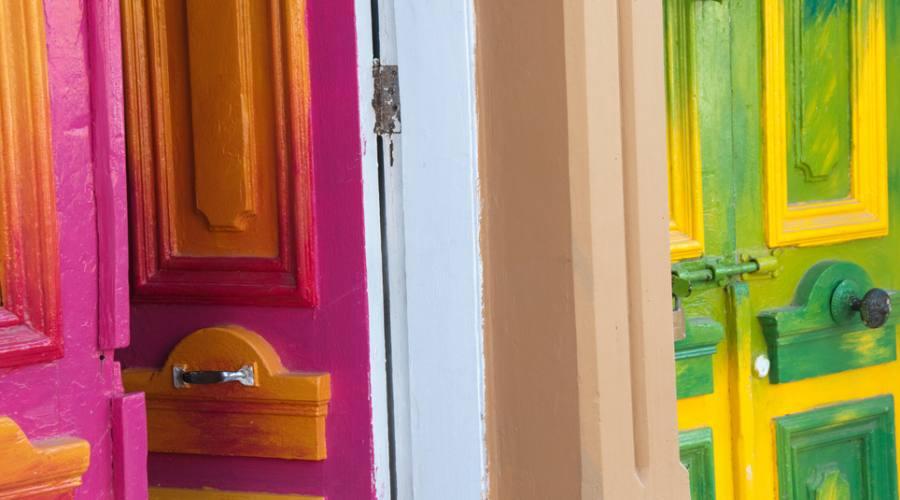 Porte di casa colorate, Valparaiso