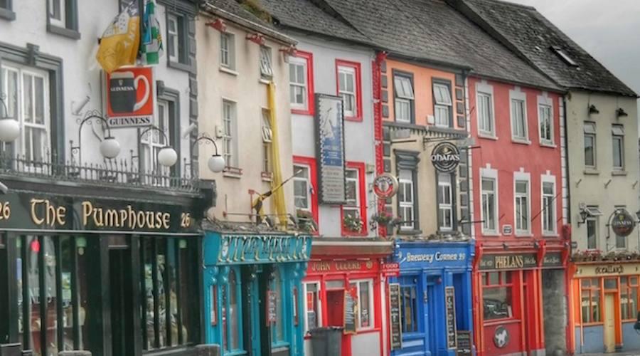 la via delle birrerie a Dublino