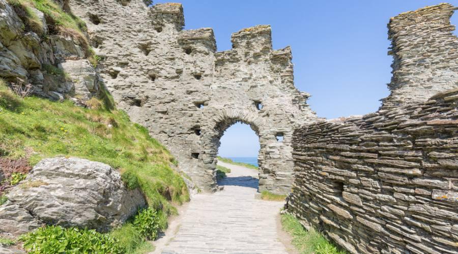 Tintagel Particolare dell'antico castello