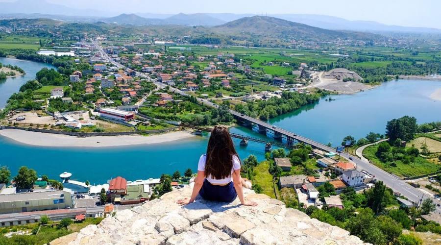 Vista dal  Castello di Rozafa