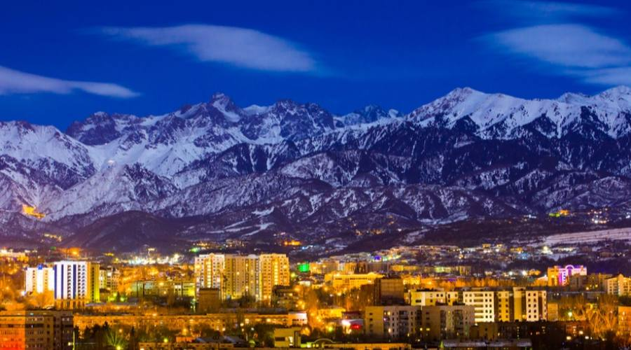 Almaty by night