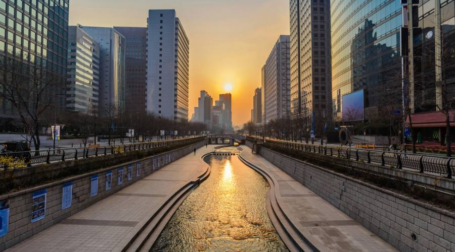 Seoul, canale Cheong Gye Cheon