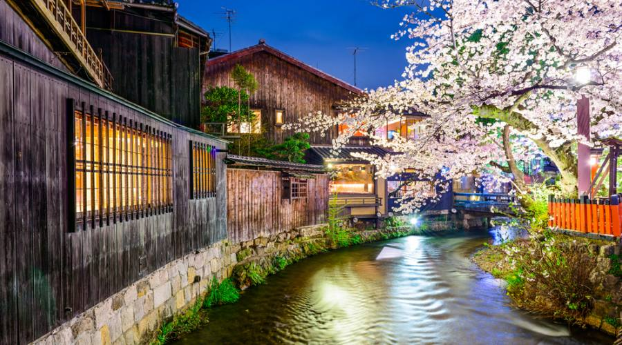 Il fiume Shirakawa a Kyoto